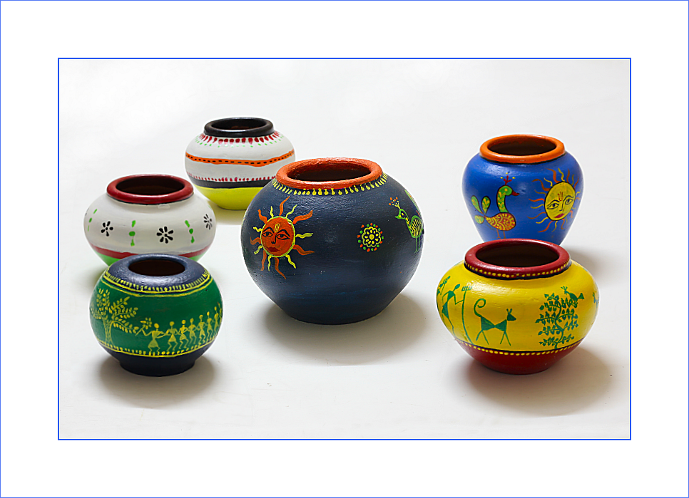 Hand Painted Ceramic Pots